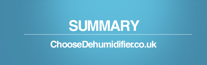 Summary of ChooseDehumidifier.co.uk Homepage